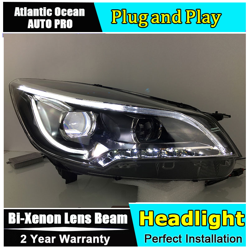 Auto.Pro Car Styling for Ford Kuga Headlights 2014 Escape LED Headlight DRL Lens Double Beam HID KIT Xenon bi xenon lens hireno headlamp for hodna fit jazz 2014 2015 2016 headlight headlight assembly led drl angel lens double beam hid xenon 2pcs