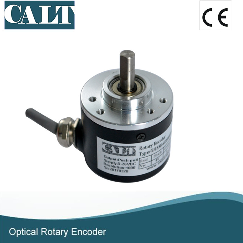 Free shipping GHS38 Series Incremental Optical Dightal Encoder 1024 Pulse Sensor Similar to rotary encoder E6B2