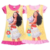 MUABABY Beach Summer Moana Dress Girls Outfit Moana Princess Dresses Kids Party Cosplay Costumes Children Clothing