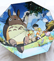 Five Folding Mini Umbrella Totoro Studio Ghibli Umbrella Rain men Kids Super Light Umbrella Sunshade Parasol For Women Ladies