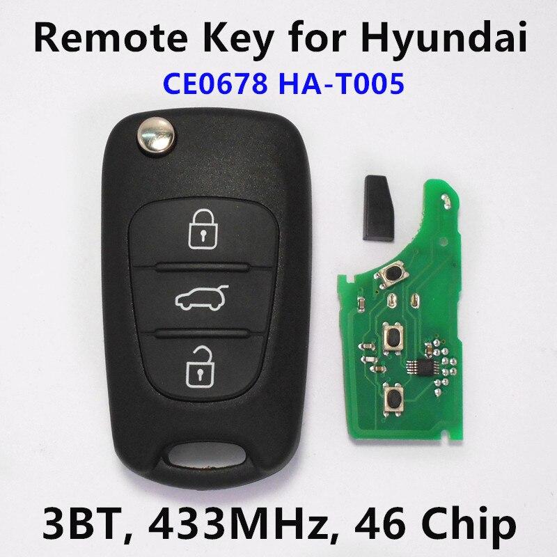 Prix pour (Adapte: CE0678 HA-T005) À Distance Clé pour Hyundai Tucson IX35 IX20 Clé De Voiture À Distance Émetteur Assy