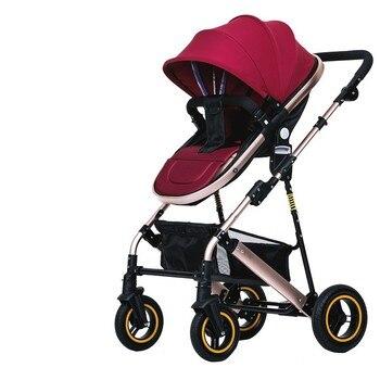 BESPLATNA DOSTAVA!!  Luksuzna dječja kolica, visoke kvalitete, dječja kolica za novorođenčad, sjedeći i ležeći položaj. 1