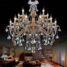 Modernas Lámparas de Cristal Pendientes Colgantes Luminaria Lampe 15 Luces accesorios de Iluminación Hogar Sala de estar Pendientes Lluminaire
