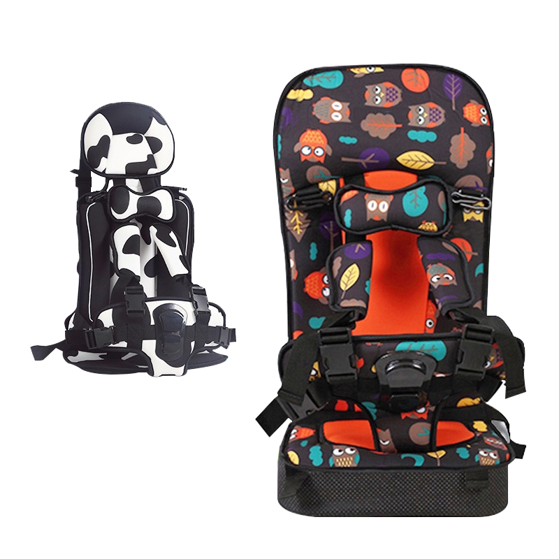 Portable Baby Safety Sitting Cushion Child Seat Travel Protection Chair for Children Cushion Mattress Pad Cartoon Patern Yellow printed baby child supermarket trolley dining chair protection antibacterial safety travel portable shopping cart cushion