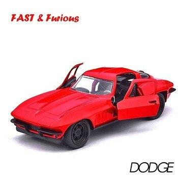 цена на Jada 1:32 Scale Red Chevrolet Corvette Metal Alloy Racing Car Diecast Vehicles Model Toys For Children Fast Furiou Hots Wheel