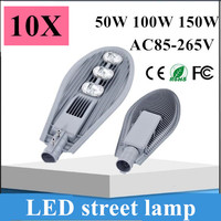 10pcs Hot Sale Led Street light COB 50W 100W 150W AC85 265V Led Street Lamp Street lighting for sale Road Lamp