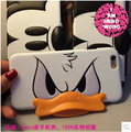 Luxury Leather Cute Duck Mouse Case Cover For iPhone 6 6S Case Cartoon 6 Series 3D Soft Silicone Case For Phone