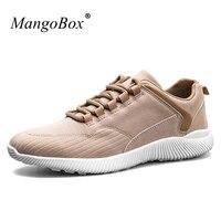MangoBox Men Sport Shoes Lace Up Designer Mens Sneakers Gray Khaki Footwear For Men Spring Summer
