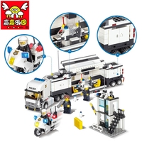 City police building blocks Early education toys for children building Bricks compatible with legoe City police Best Kids Gift