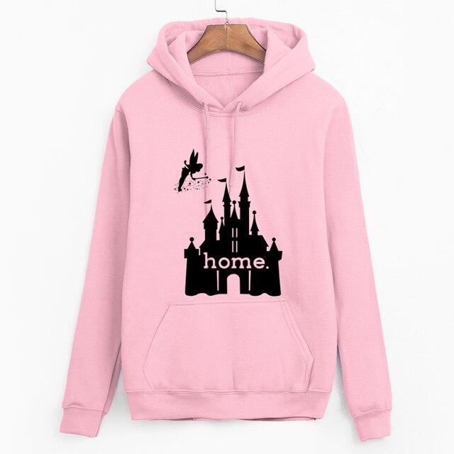 2019 autumn winter Women hooded pullovers Castle Is My Home fashion Hoodies Femmale Sweatshirts streetwear casual warm tracksuit