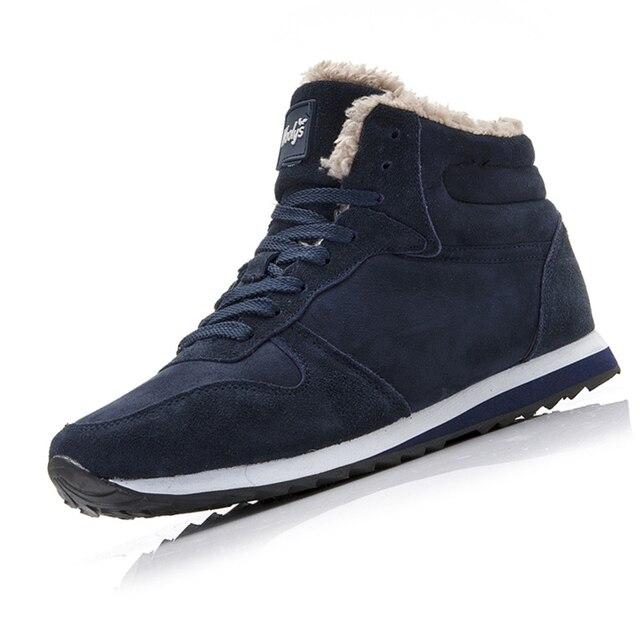 الرجال الأحذية أزياء الرجال الشتاء الأحذية زائد حجم الكاحل بوتاس هومبر لفصل الشتاء الأحذية أحذية الرجال السببية أفخم رياضية جلدية الجوارب