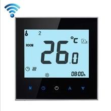 Сенсорный экран еженедельно 5+ 2 программы Wifi термостат для электрического отопления 16А дистанционное управление IOS или Android смартфон