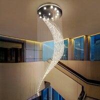 Романтический Кристалл Hanglamp светодиодный подвесные светильники домашние осветительные приборы Роскошные дуплекс подвесной светильник от