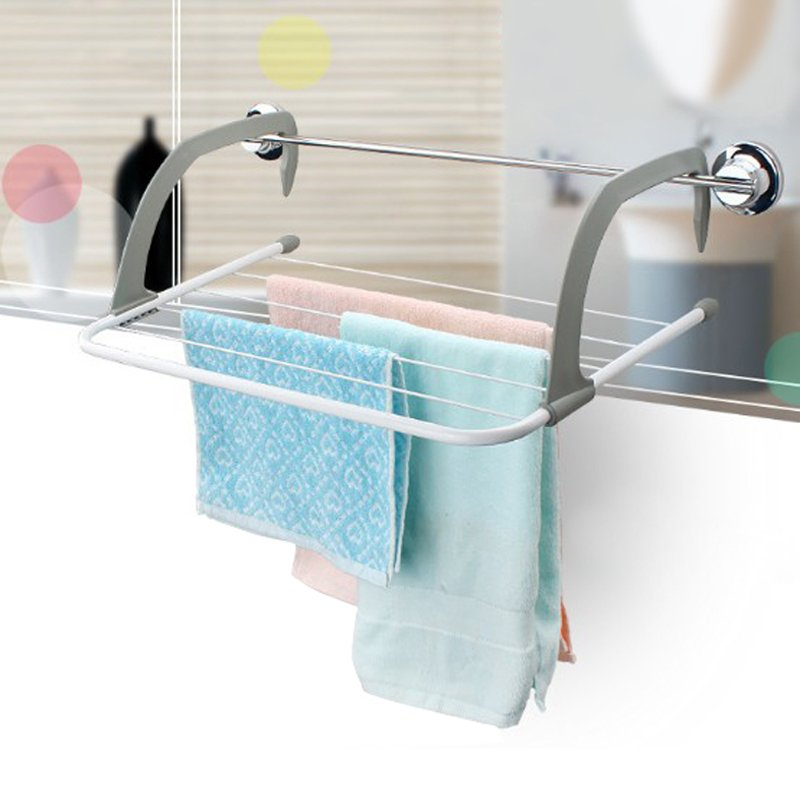 Hot Metal Hook Folding Hanger 5 Layers Towel Rack Hanging Clothes Kids  Clothes Racks Bathroom Accessories Shelf In Bathroom Shelves From Home  Improvement On ...