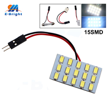 цена на 4PCS LED Panel Light 5730 15 SMD 15 LEDs 12V DC With T10 Festoon Adapters Reading Light Panel Lights Super White Color