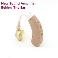 100 Brand New Sound Amplifier Behind The Ear Adjustable Tone Hearing Aids Aid Super Mini Size