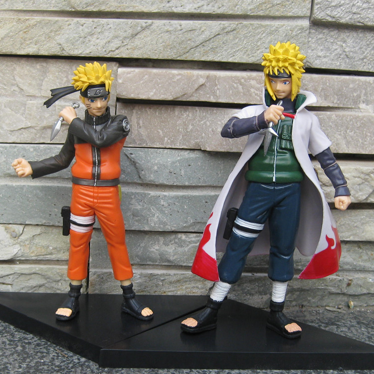 Free Shipping Cartoon Anime Naruto Yondaime 16cm 2pcs/set PVC Action Figure Collectable Model  Doll Gifts for kids #17