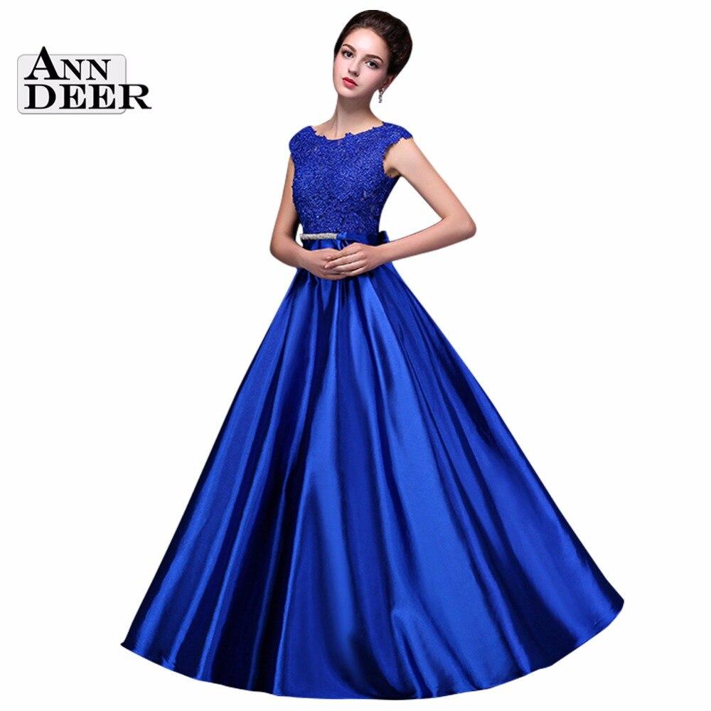 синие платья фото длинные