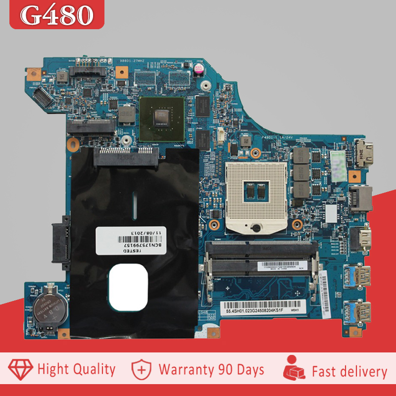 YTAI 48.4SG12.011 For Lenovo G480 laptop Motherboard HM65 DDR3 USB3.0 48.4SG12.011 Mainboard 100% tested ytai for asus a54ly x54ly x54hy k54hr a54hr k54ly laptop motherboard rev2 1 intel hm65 ddr3 pga989 mainboard 100% working
