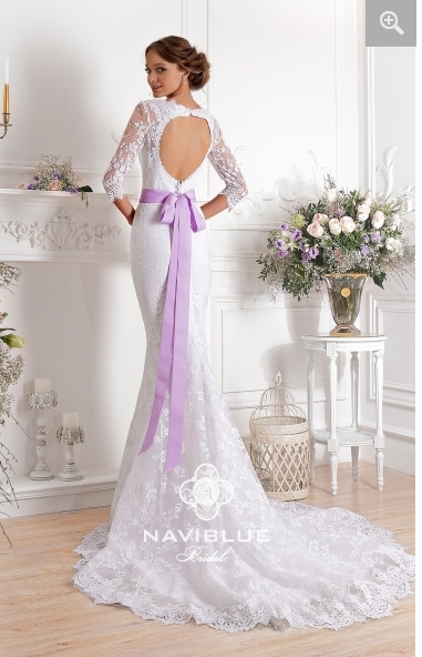 Purple Lace Mermaid Wedding Dress