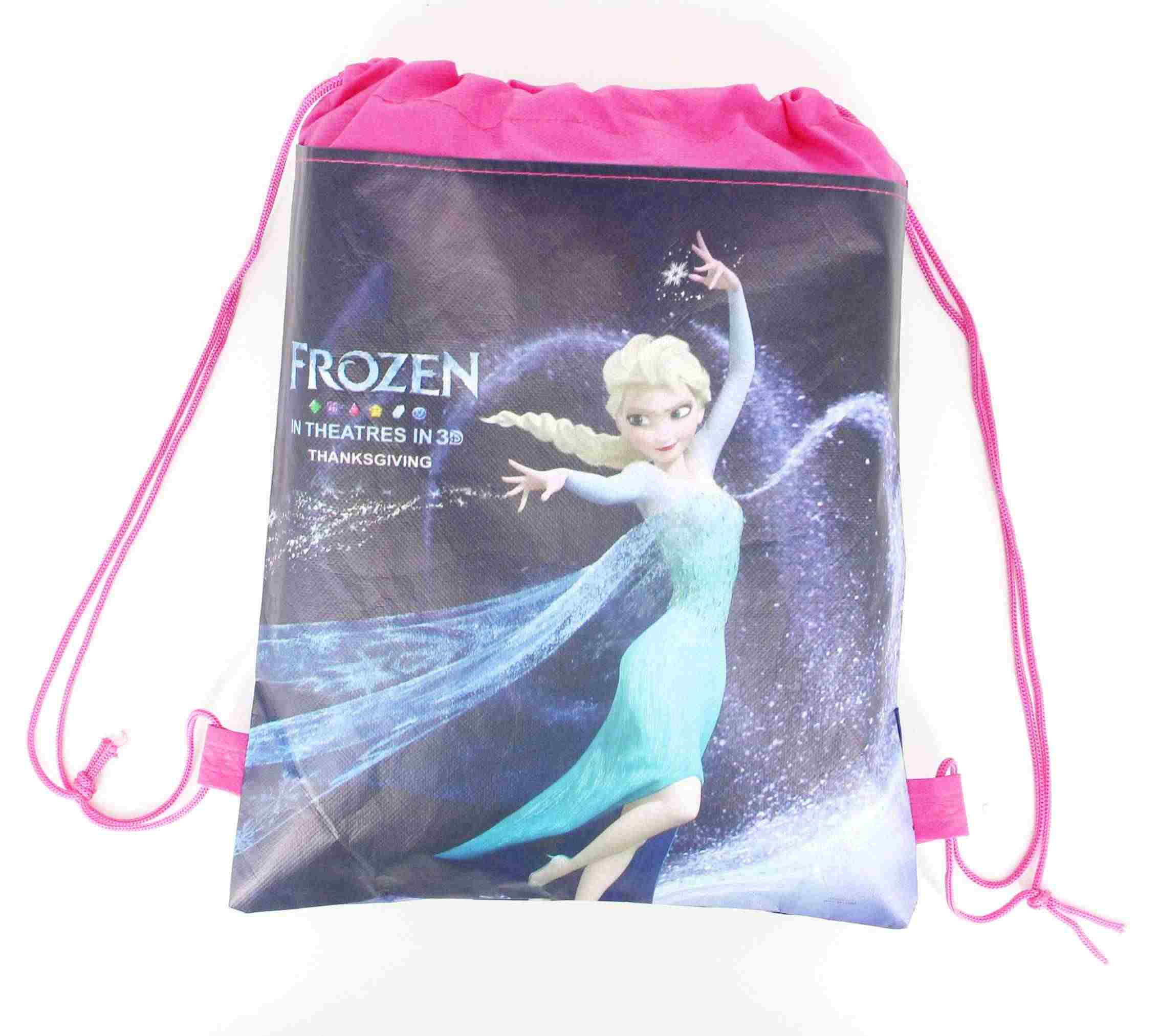 1 Uds. De la fiesta de Frozen de la princesa Anna Elsa bolsas con cordón telas no tejidas mochila escuela con cordón bolsa de compras para los niños
