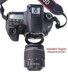 Image 3 - РЕВЕРСИВНОЕ кольцо адаптер для макрообъектива камеры 49 мм 52 мм 55 мм 58 мм 62 мм 67 мм 72 мм 77 мм фильтр Резьбовое крепление объектива для камеры Canon DSLR