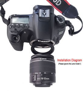 Image 3 - מצלמה עדשת מאקרו הפוך מתאם טבעת 49mm 52mm 55mm 58mm 62mm 67mm 72mm 77mm מסנן חוט הר עדשה עבור Canon DSLR מצלמה