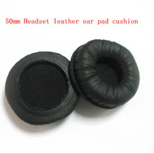 50mm Leatherette Ear Cushions For Sony MDR-V150 V250 V300 2pcs /lot Free shipping by mail