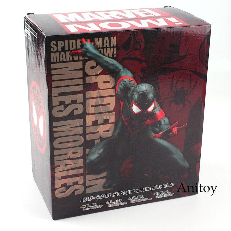 Spiderman Miles Morales Marvei Ver.Action Figure Toy Gift  ARTFX + STATUE  10cm 1