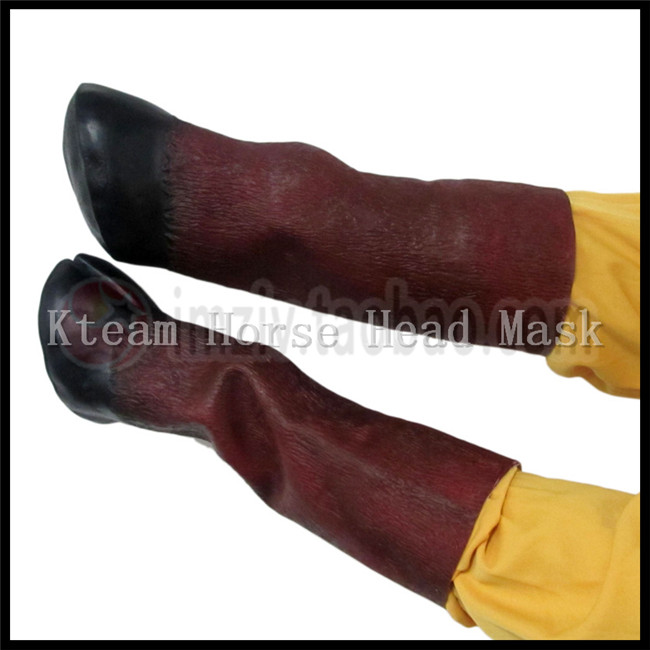 US $9 29 7% OFF|Halloween Party Cosplay Costume Prop Adult Latex Unicorn  Gloves Crazy Hooves Silicone Horse Foot Fancy Dress Party Horse Gloves-in