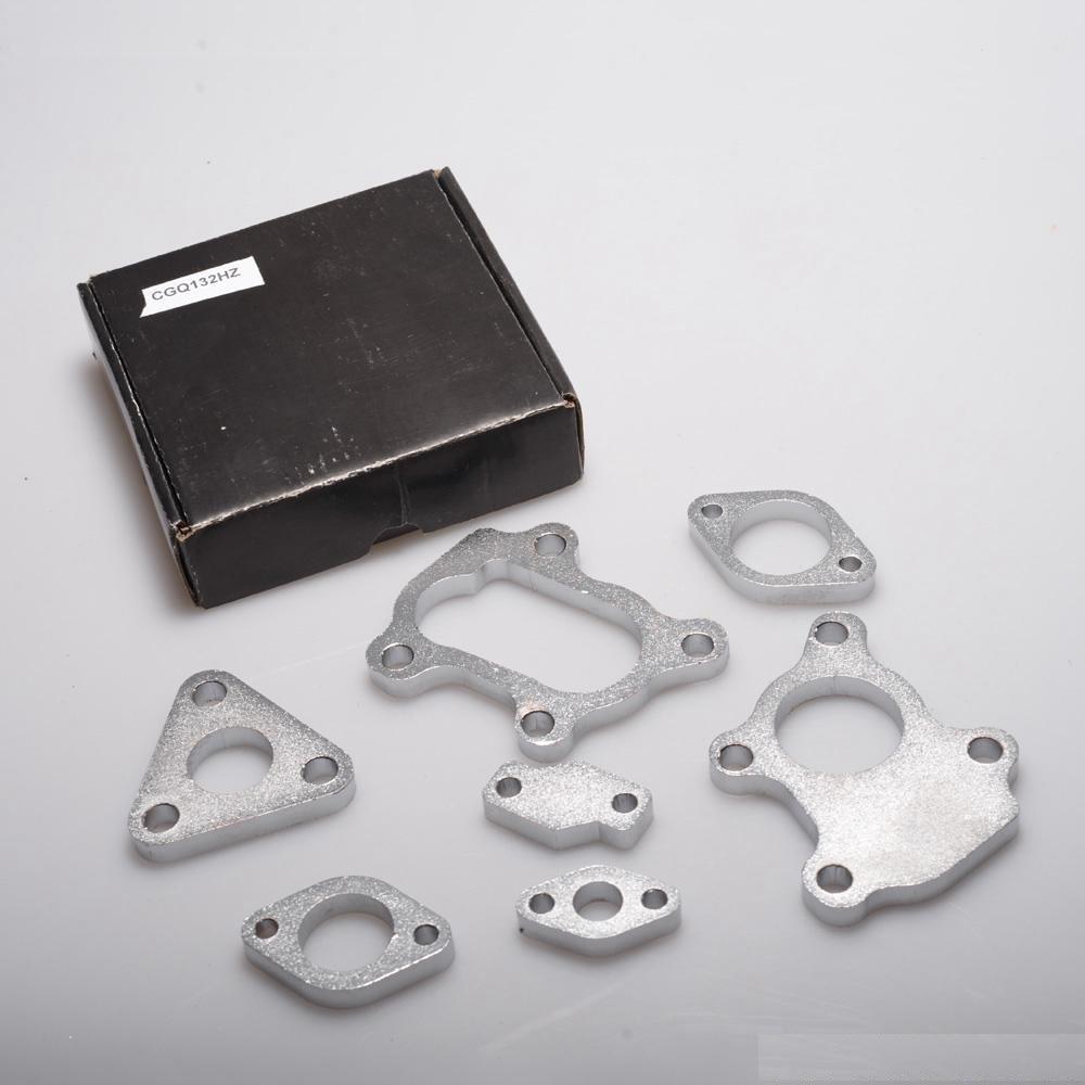 7 PCS Aluminum Alloy Turbocharge Turbo Flanges Complete Set Fits for RHB31 VZ21 Suuonee Turbocharge Turbo Flange