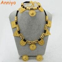 إريتريا anniyo بالجملة habesha الاثيوبية مجموعة المجوهرات قلادة سوار القرط خاتم الذهب اللون أفريقيا الزفاف #054906