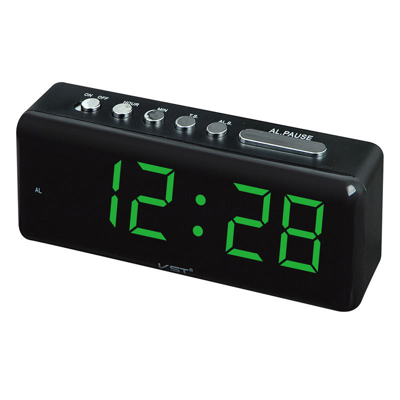 LED Table Clock With Large Display Snooze Function Digital