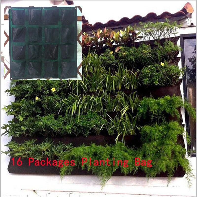 Wiszące Na ścianie Garnek Z 16 Stron Specical Sadzenia Torby