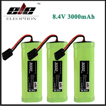 3x Eleoption 8.4V 3000mAh 7 Cell Hump Pack Ni-MH Battery For Associated 1/10 SC10