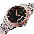 BIDEN Luxury Men's Watches Stainless Steel Waterproof Analog Clock Men Calendar Business Wristwatch Relogio Masculino