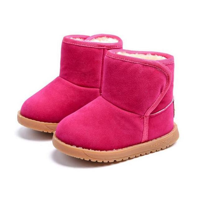 e89fbc841f36a Nowe Markowe Buty Dla Dzieci Dziewczyny Buty Zimowe Ciepłe Kostki Maluch  Chłopców Buty Buty Dla Dzieci
