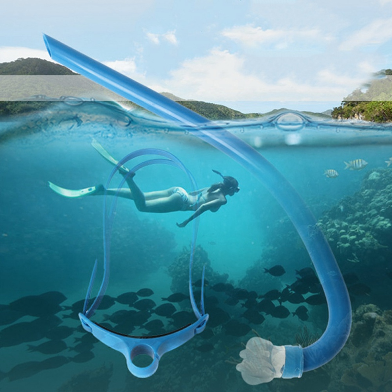 New Snorkel Professional Swimming Training Snorkeling Equipment Swimming Freestyle Breathing Tube Single Diving Tube