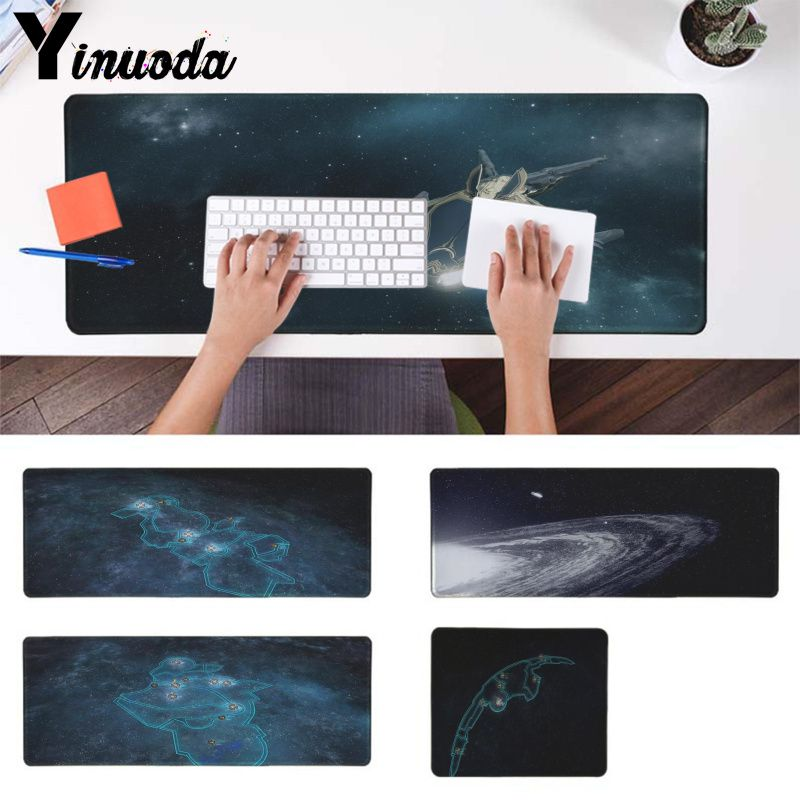 Yinuoda New Designs Star Wars Map Locking Edge Mouse Pad Game Rubber PC Computer Gaming mousepad image