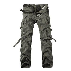Image 4 - Top qualität männer military camo cargo hosen freizeit baumwolle hosen cmbat camouflage overalls 28 40 AYG69