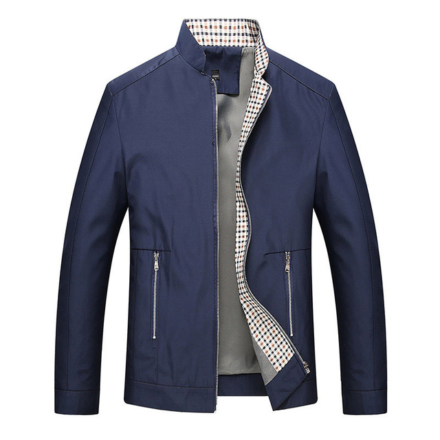 2018 Men Smart Casual Businessmen Jackets Coats Jaqueta Masculina Male Casual Fashion Slim Fitted Zipper Jacket Hombre M-XXXL