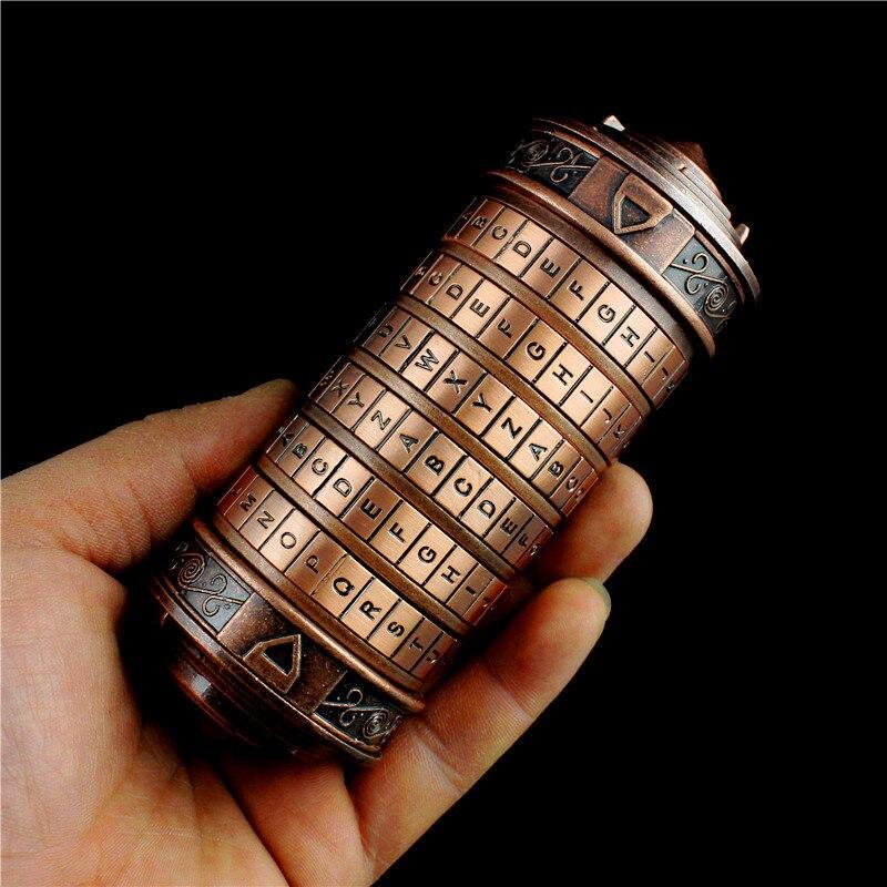 Leonardo da Vinci code jouets Figure métal Cryptex serrures cadeaux de mariage saint valentin cadeau lettre mot de passe évasion chambre accessoires