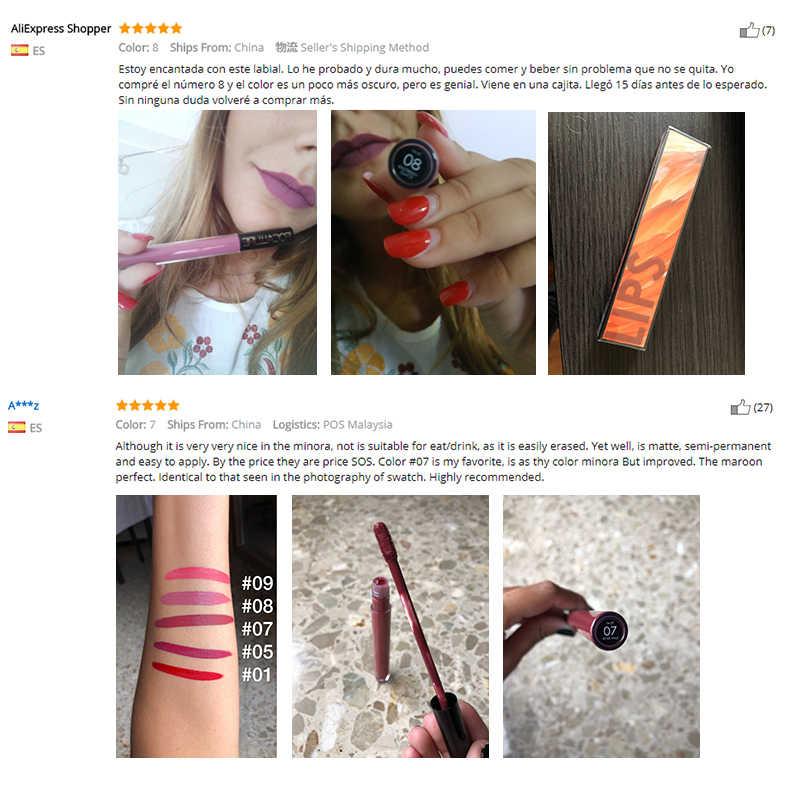 FOCALLURE matte liquid ลิปสติกติดทนนานริมฝีปากเครื่องสำอาง nude shades 14 สีลิปสติก lip makeup