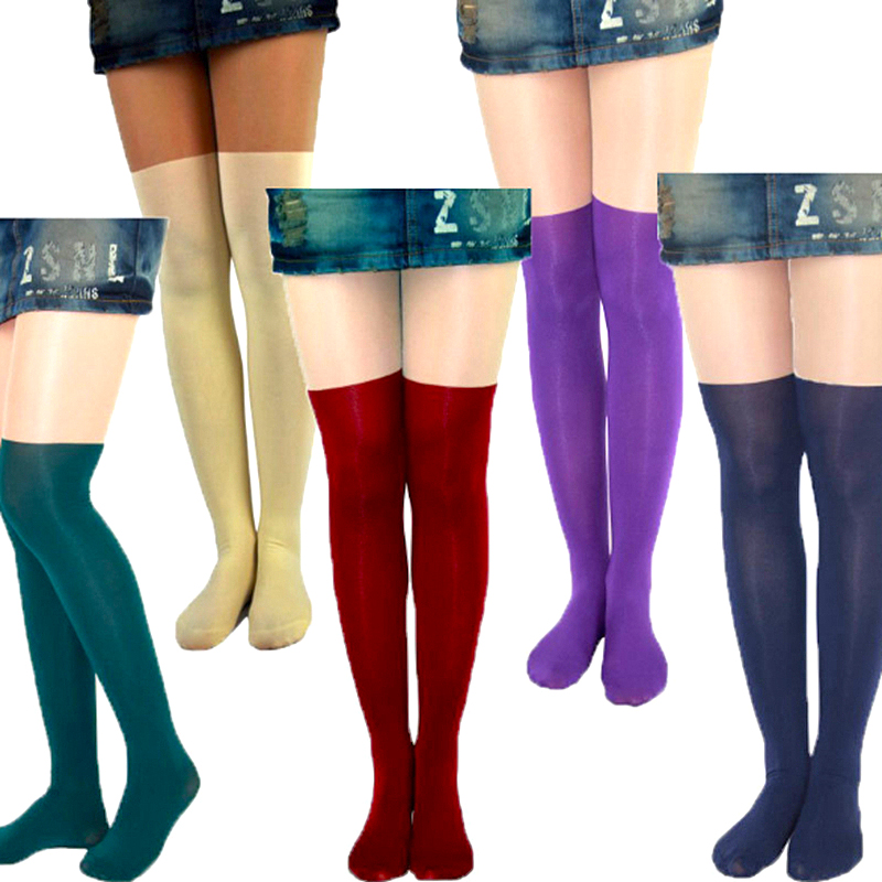 New Style Tights Women Nightclubs Sexy Candy Color Tinted Sheer False Stitching Stocking Pantyhose Tattoo Tight For Girls