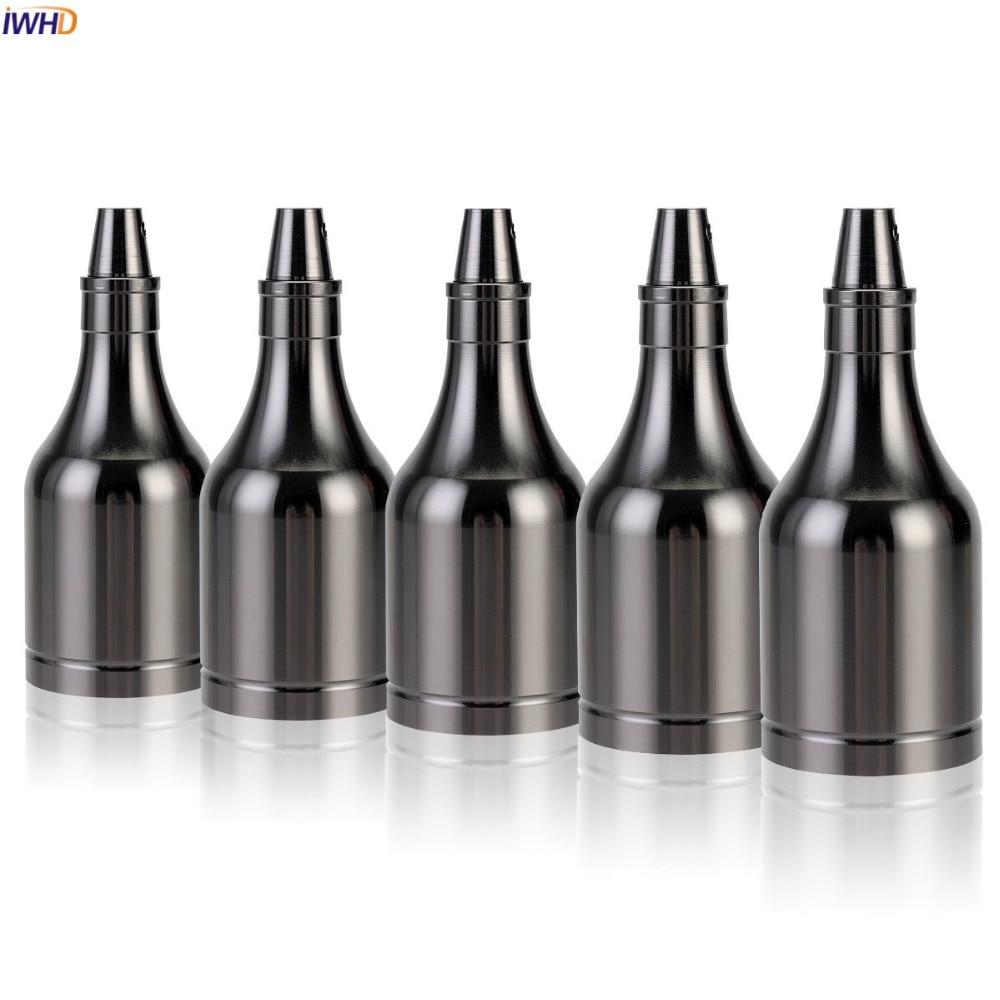 IWHD Vintage Bottle Portalamparas Lamp Holder E27 Socket For Light Bulb 110-220V Soquete E27 Bulb Socket Base Lampholder CE UL