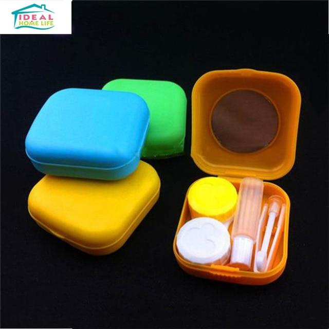 2PCS Pocket Size Mini Travel Storage Box Kit Contact Lens Storage Holder Easy Carry Set Mirror & 2PCS Pocket Size Mini Travel Storage Box Kit Contact Lens Storage ...