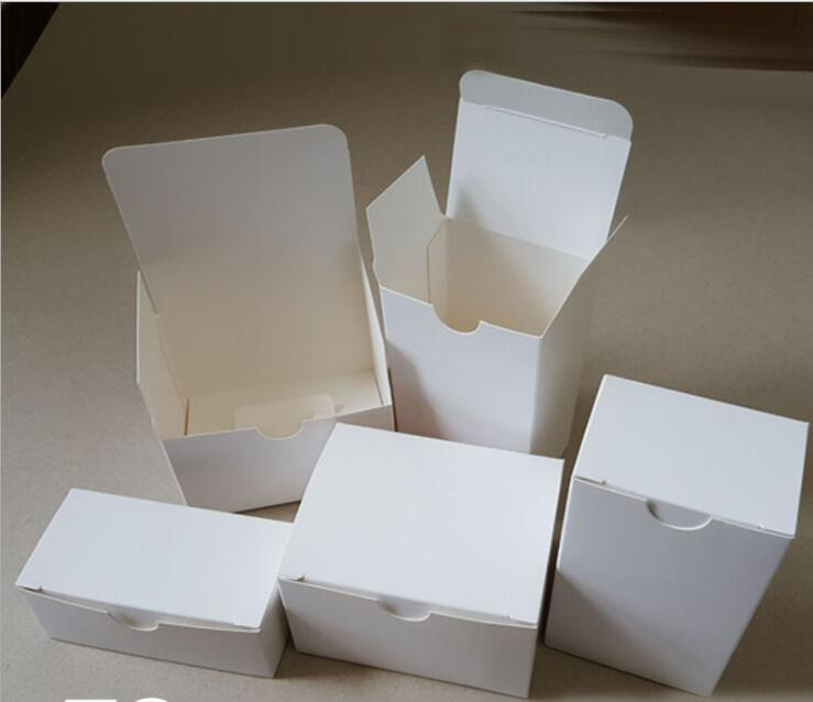 02.16/6*6*6cm White Gift Box Cosmetic Bottle Jar Box Craft Handmade