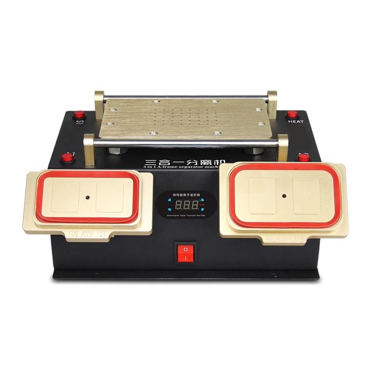 3 in 1 Multifunction Preheater +Bezel Middle Frame lcd Separator Machine + Vacuum LCD Separator For samsung lcd screen repair b101xt01 1 m101nwn8 lcd displays