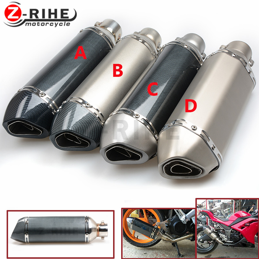 for Motorcycle Universal 36-51mm Exhaust Pipe Exhaust Muffler moto sooter for Kawasaki Z1000SX/NINJA 1000/Tourer z800 z750 z900