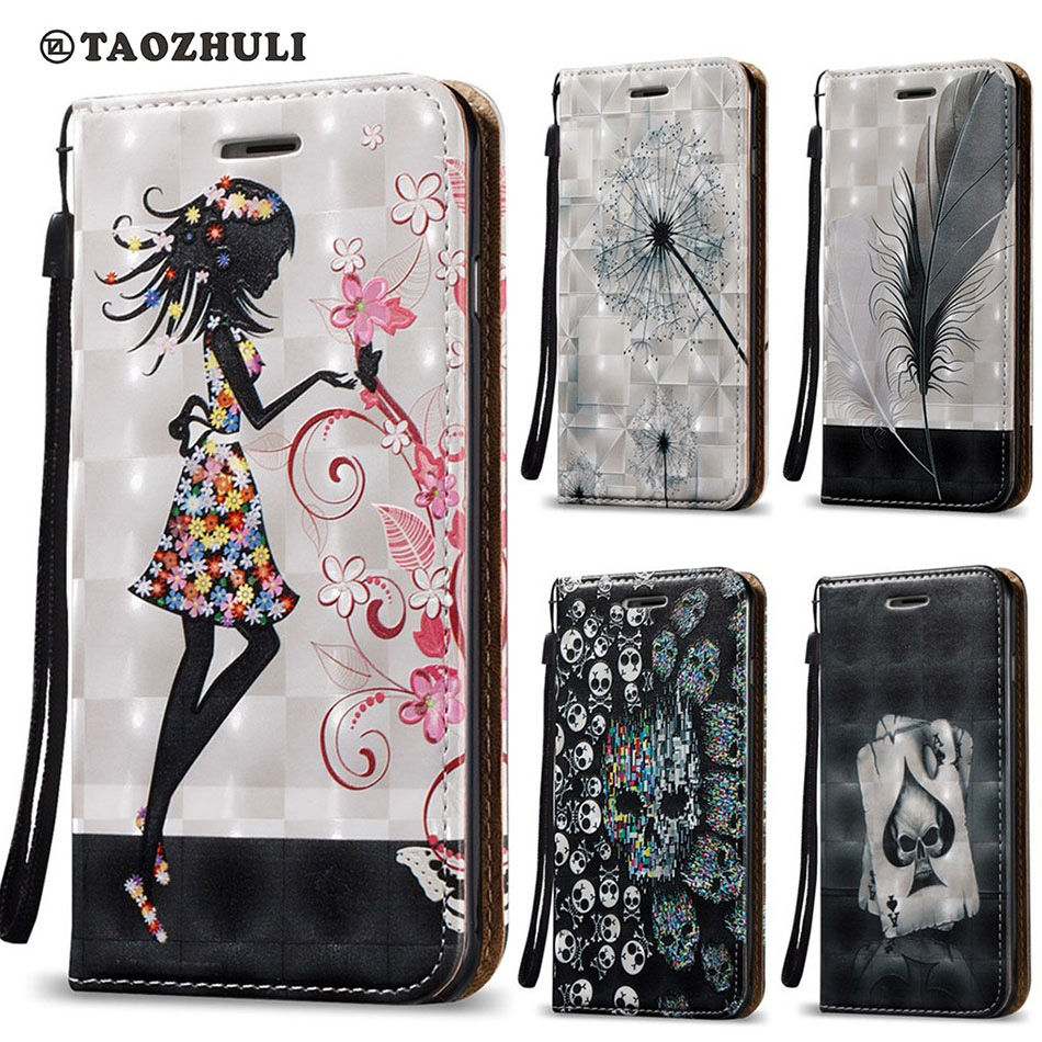 Pu leather case for samsung galaxy a7 2016 a710 peacock feather - Skull Poker Girl Feather Magnetic Flip Pu Leather Case For Huawei Y5ii Y6ii Y5 Ii Y6